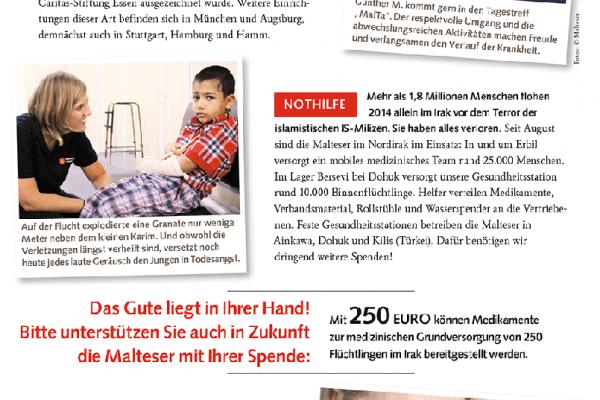 Malteser Spendenquittung 2014