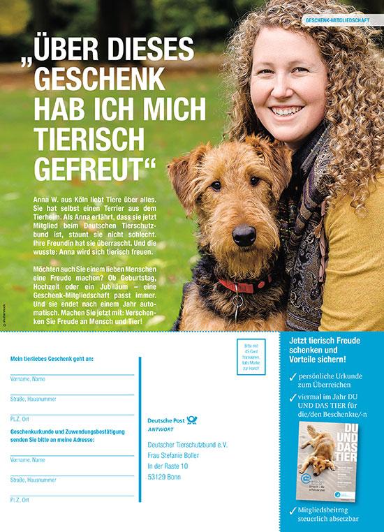 Tierschutzbund Anzeige Geschenkmitgliedschaft