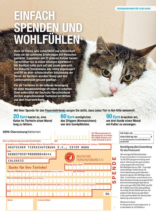 Tierschutzbund Einleger Feuerwehrfonds