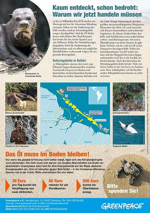 Greenpeace Amazonas Riff Flyer